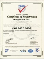 2. ISO Registration certificate